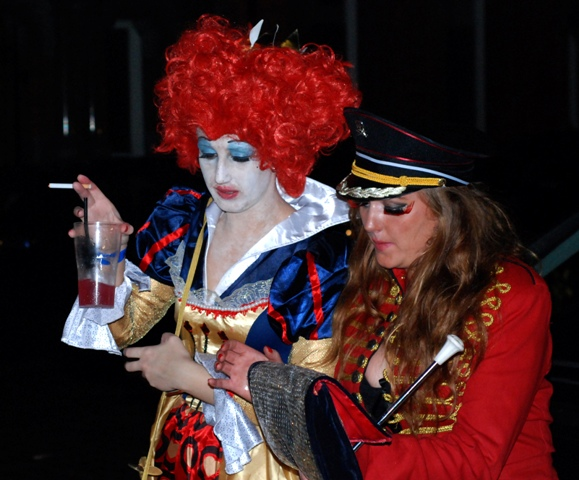 Halloween in Dublin. Street party.