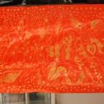 Zafarbowany batik suszymy