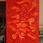 Gotowy batik suszymy