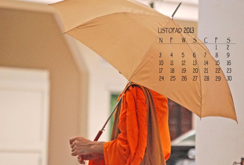 Kalendarz w na pulpit na Listopad 2013