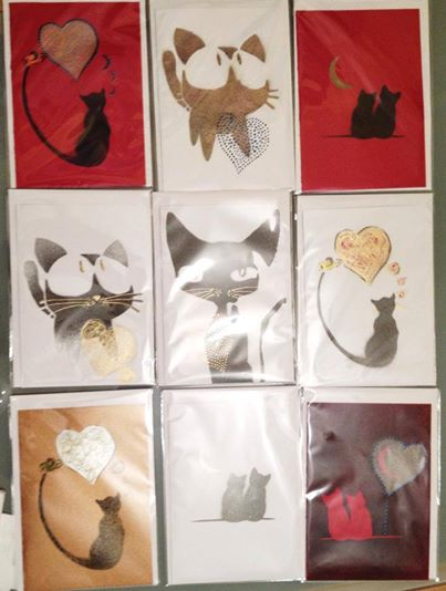 Valentine's Cards with Cats
