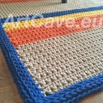 crochet cotton rope rug for sale dublin