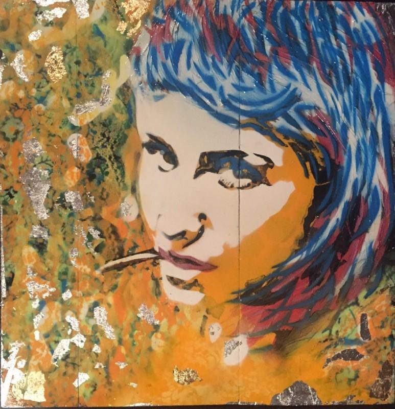 Stencil -obraz na drewnie z szablonu (Kasia)