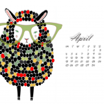 Desktop Calendar April 2016 1280x1024