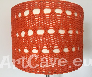 Ikea lampshade hack – knitted lampshade cover