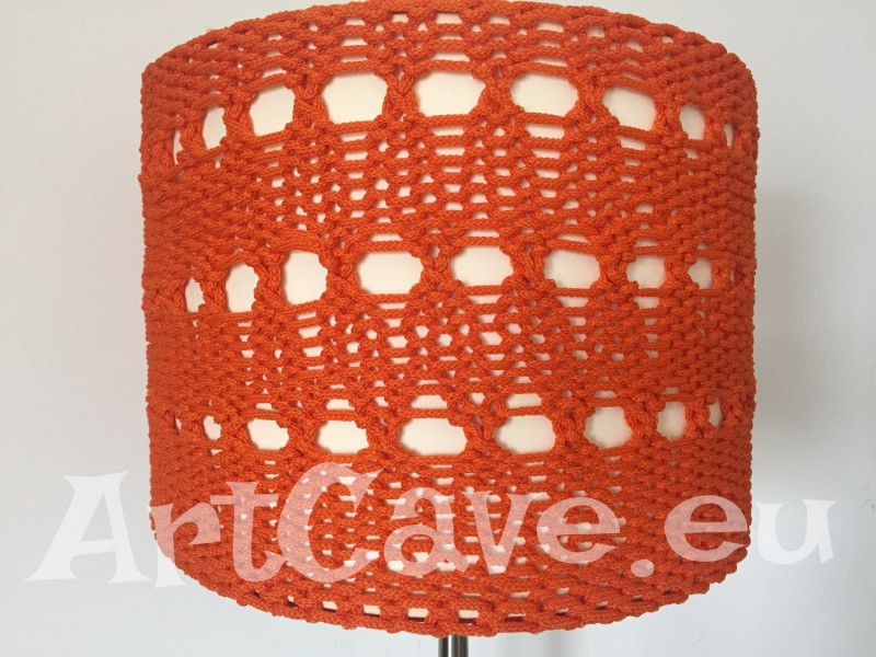 ikea lampshade knitted cover