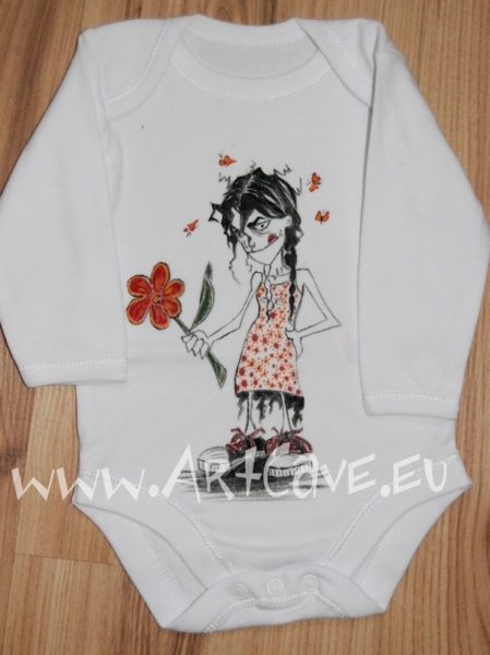 Edgy, funky baby and toddler clothing – hand painted limited edition