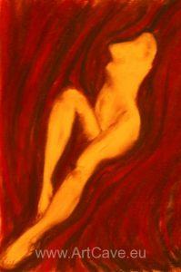 pastel akt nude