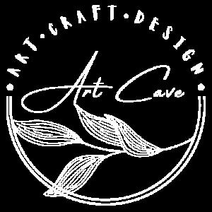 Art cave logo white