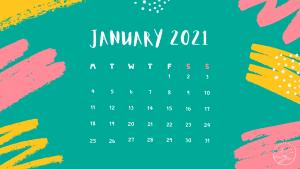 Free Desktop calendar January 2021