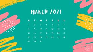 Desktop Calendar March 2021