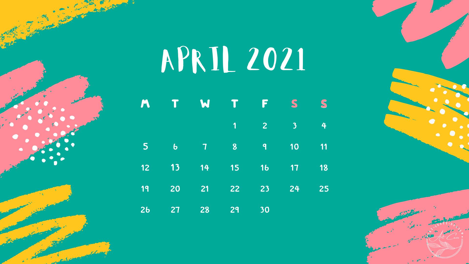 Desktop Calendar April 2021