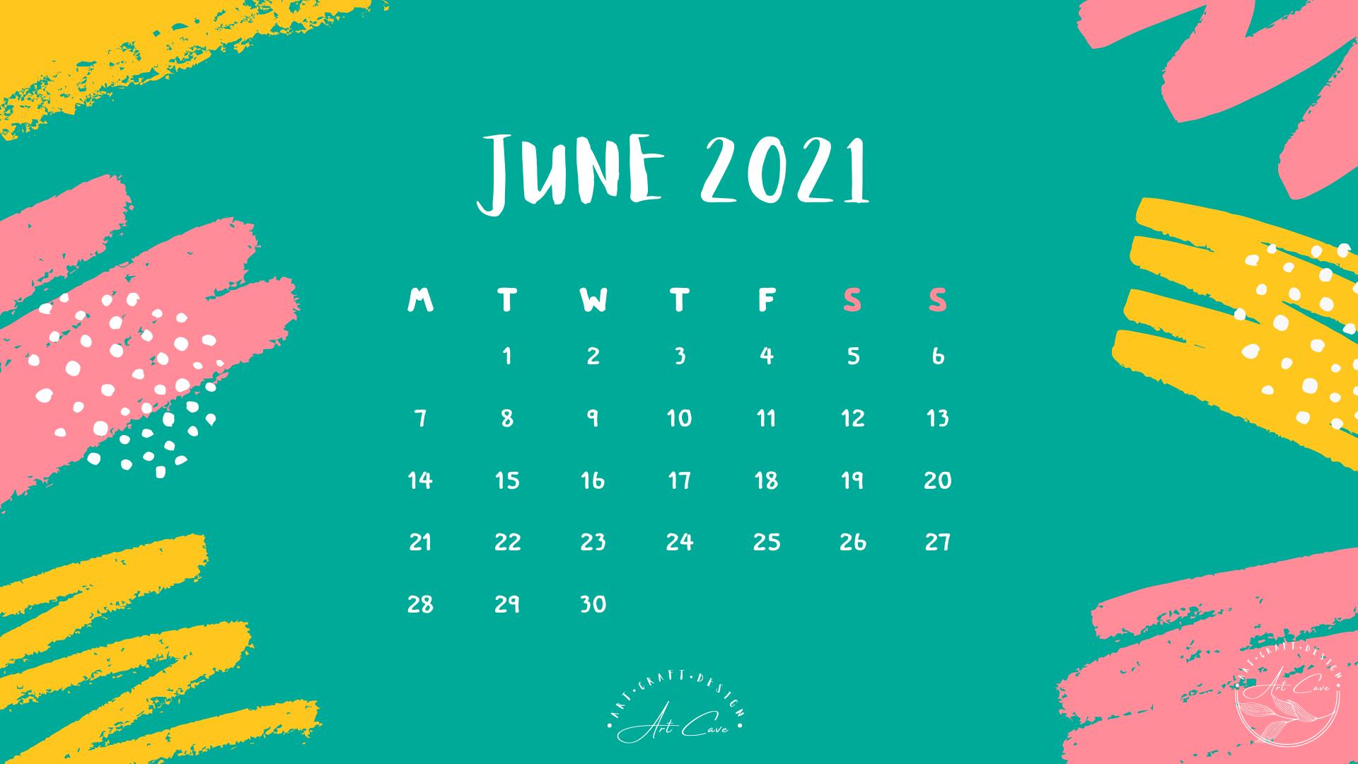 Desktop Calendar June 2021