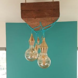 handmade rustic wooden lampshade